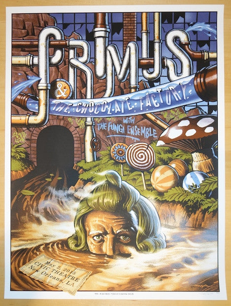 2015 Primus - New Orleans II Silkscreen Concert Poster by Jason Edmiston