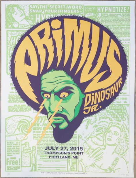 2015 Primus - Portland Silkscreen Concert Poster by Jeff LaChance