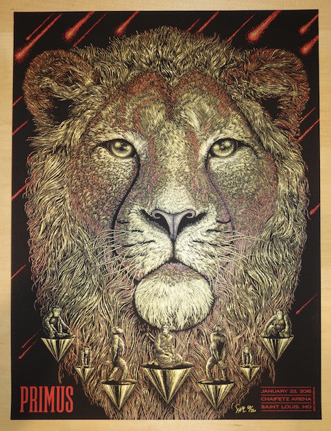 2016 Primus - St. Louis Silkscreen Concert Poster by Todd Slater