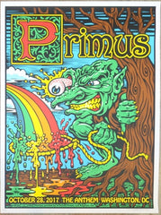 2017 Primus - Washington DC Silkscreen Concert Poster by Jimbo Phillips