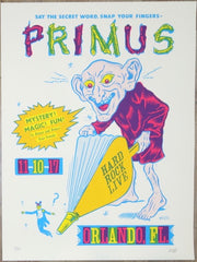 2017 Primus - Orlando Silkscreen Concert Poster by Morning Breath