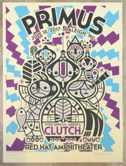 2017 Primus - Raleigh Cream Variant Concert Poster by Don Pendleton