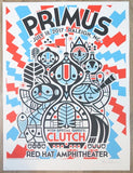 2017 Primus - Raleigh Silkscreen Concert Poster by Don Pendleton