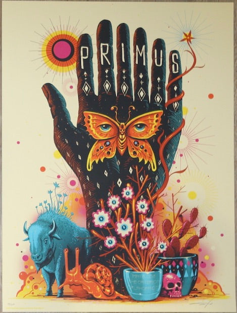 2018 Primus - Oklahoma City Silkscreen Concert Poster by Jeff Soto
