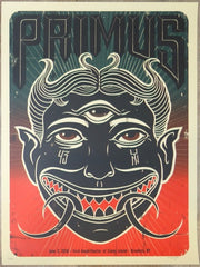 2018 Primus - Brooklyn Silkscreen Concert Poster by Jeff Soto