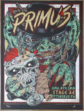 2018 Primus - Pittsburgh Silkscreen Concert Poster by Rhys Cooper