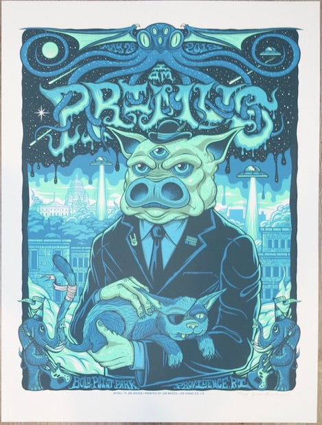2018 Primus - Providence Silkscreen Concert Poster by Jim Mazza