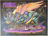 2018 Primus - Reading Purple Variant Silkscreen Concert Poster by Munk One