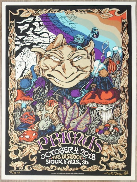 2018 Primus - Sioux Falls Silkscreen Concert Poster by Nathaniel Deas