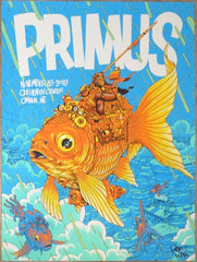 2019 Primus - Omaha Silkscreen Concert Poster by Pye Parr