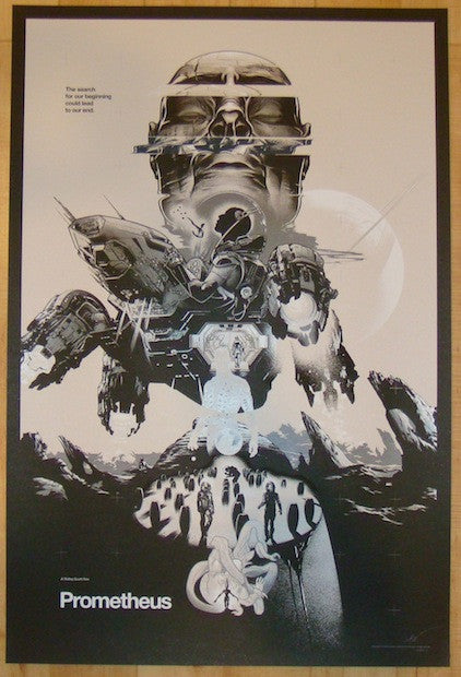 "2014 ""Prometheus"" - Silkscreen Movie Poster by Martin Ansin"