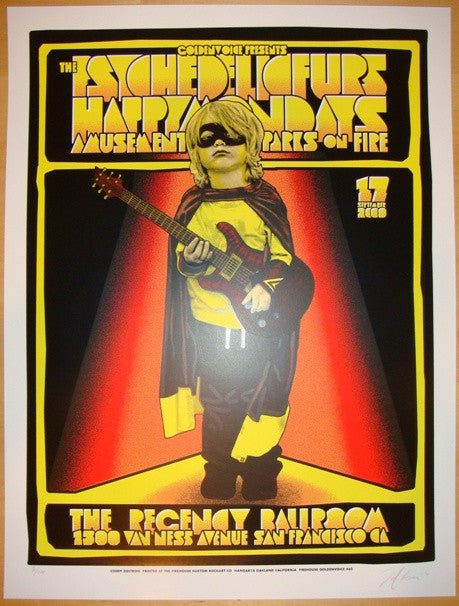 2009 The Psychedelic Furs Concert Poster by Zoltron & Firehouse