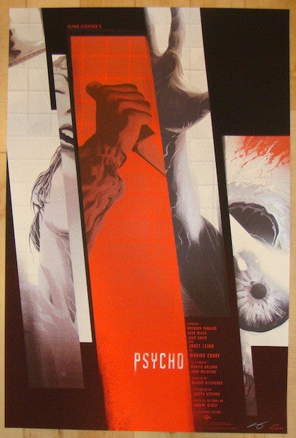 "2014 ""Psycho"" - Silkscreen Movie Poster by Kevin Tong"