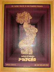 "2010 ""Psycho"" - Purple Silkscreen Movie Poster by David O'Daniel"