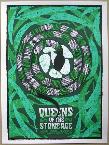 2008 Queens of the Stone Age New Zealand Concert Poster by Hynes