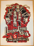 2013 Queens of the Stone Age - Grand Prairie Poster by Burwell