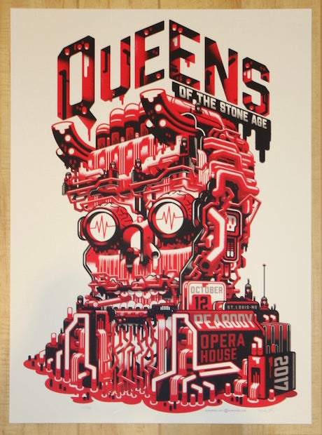 2017 Queens Of The Stone Age St Louis Silkscreen Concert Poster