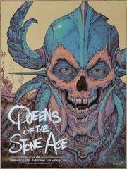 2018 Queens of the Stone Age - Los Angeles Kraft Variant Concert Poster by N.C. Winters