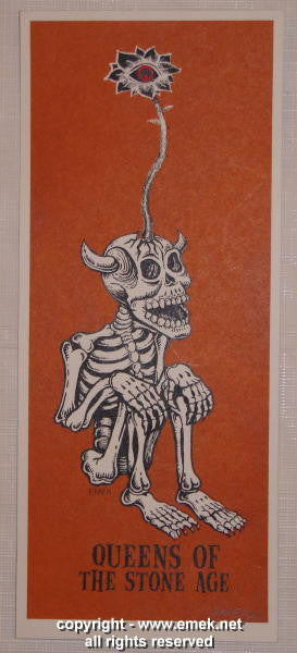 2003 Queens of the Stone Age - Brown Silkscreen Handbill by Emek