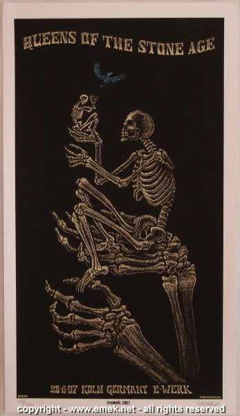 2007 Queens of the Stone Age - Koln Silkscreen Handbill by Emek