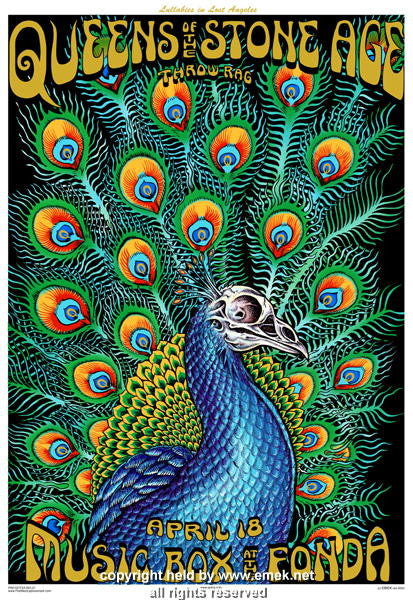 2005 Queens of the Stone Age - LA Concert Poster by Emek