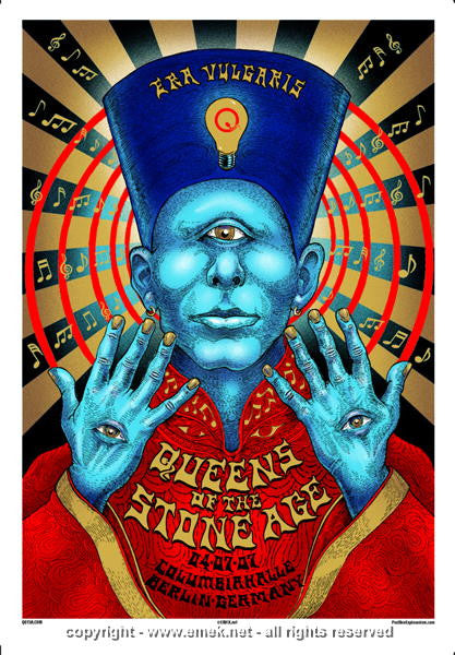 2007 Queens of the Stone Age - Berlin Concert Poster by Emek