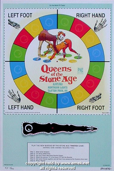 2003 Queens of the Stone Age - Twister Prototype Poster by Emek