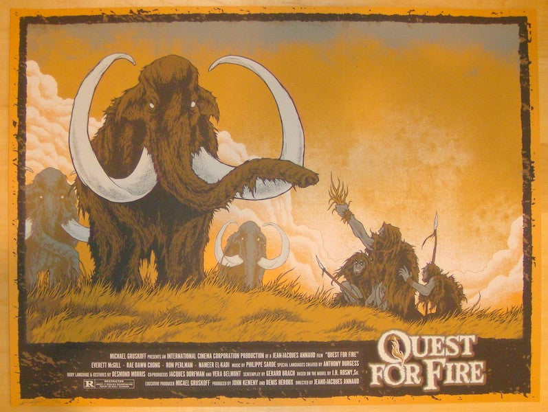 "2013 ""Quest For Fire"" - Silkscreen Movie Poster by Matt Verges"