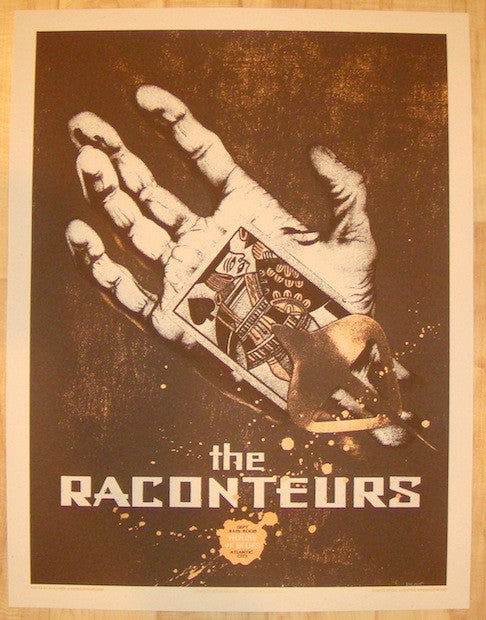 2006 The Raconteurs - Atlantic City Concert Poster by Rob Jones