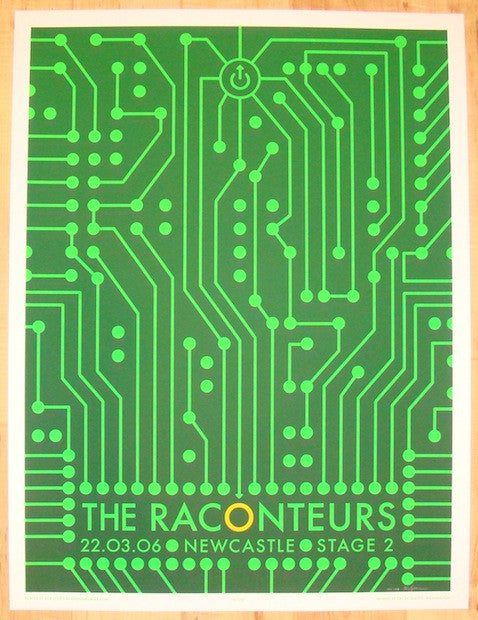 2006 The Raconteurs - Newcastle Concert Poster by Rob Jones