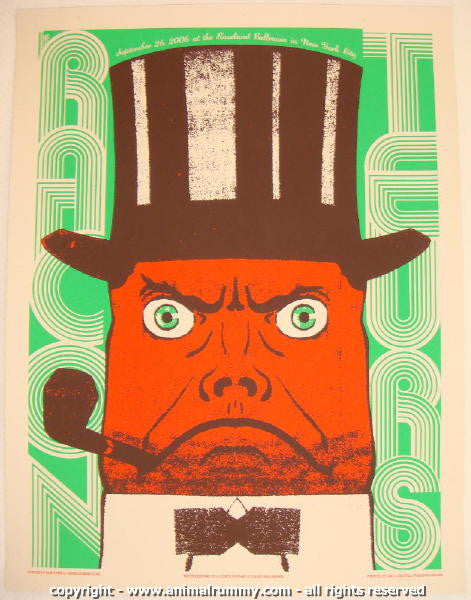 2006 The Raconteurs - NYC Roseland 2 Concert Poster by Rob Jones