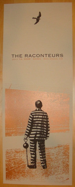 2006 The Raconteurs - San Diego Concert Poster by Rob Jones
