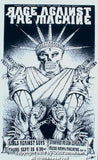 1996 Rage Against the Machine Black/White Variant Poster by Emek
