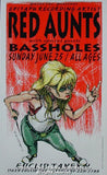 1995 Red Aunts (95-20) Silkscreen Concert Poster by Derek Hess