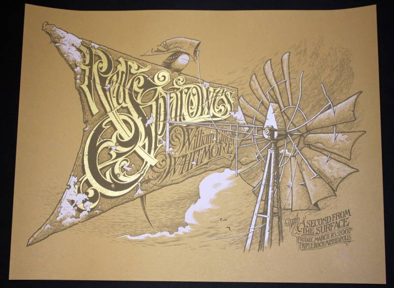2007 Red Sparowes - Silkscreen Concert Poster by Aaron Horkey