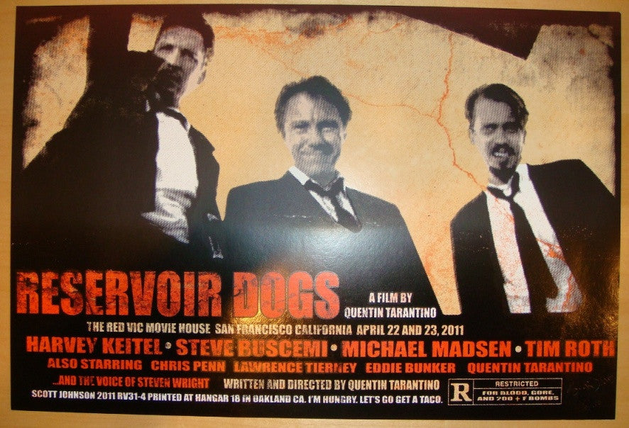 "2011 ""Reservoir Dogs"" - Movie Poster by Johnson & Firehouse"