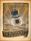 2013 The Residents - Chicago Concert Poster by Dan Grzeca