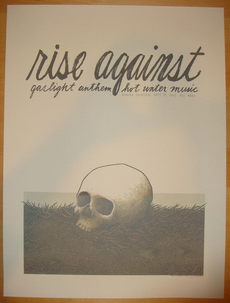 2012 Rise Against - Anaheim Concert Poster by Justin Santora