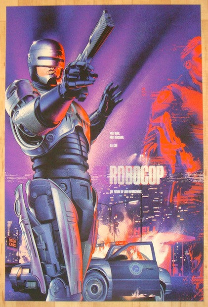 "2014 ""Robocop"" - Silkscreen Movie Poster by Martin Ansin"