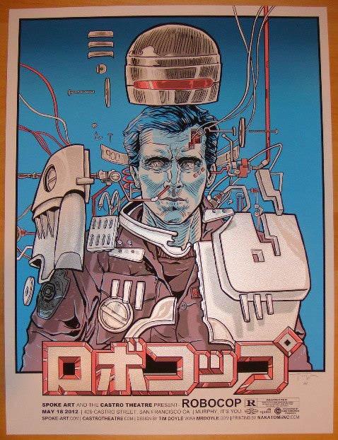"2012 ""Robocop"" - Silkscreen Movie Poster by Tim Doyle"