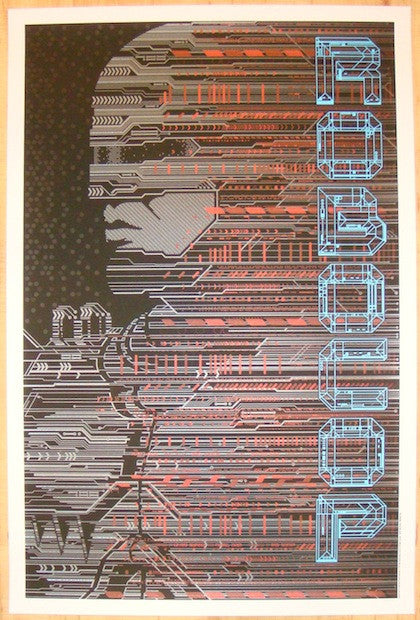 "2012 ""Robocop"" - Variant Silkscreen Movie Poster by Todd Slater"