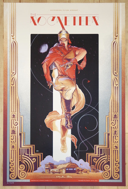 "2015 ""The Rocketeer"" - Silkscreen Movie Poster by Martin Ansin"