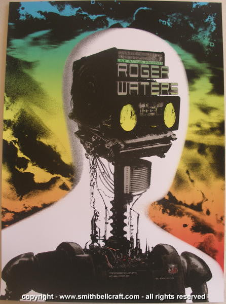 2007 Roger Waters Silscreen Concert Poster by Jon Smith