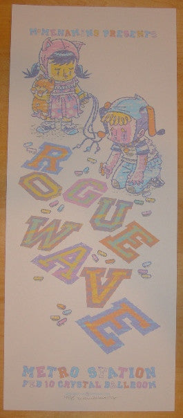 2008 Rogue Wave - Silkscreen Concert Poster by Guy Burwell