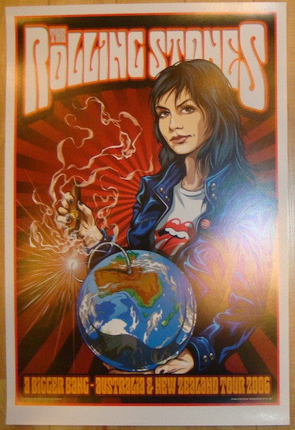 2006 Rolling Stones - Australia & NZ Tour Poster by Ken Taylor