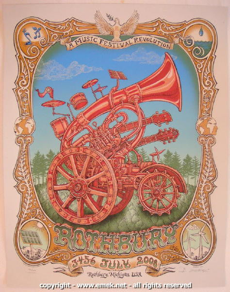 2008 Rothbury Festival - Artist's Edition Concert Poster by Emek