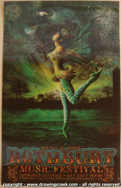2008 Rothbury Festival - 3D Concert Poster by Jeff Wood