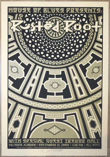 2006 Rusted Root - Orlando Silkscreen Concert Poster by Jeral Tidwell