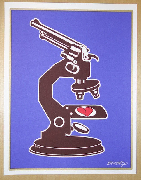 2007 Science of Love and Death - Blue/Brown Silkscreen Handbill by Emek