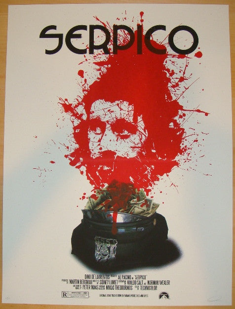 "2011 ""Serpico"" - Silkscreen Movie Poster by Jay Shaw"